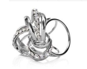 Prsteň na šatku – Keltský uzol – strieborný