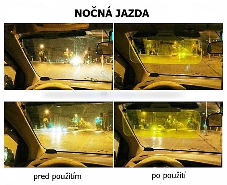Nočná jazda pri ceste autom