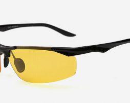 Moderné kvalitné okuliare pre šoférov s čiernym rámikom rámikom