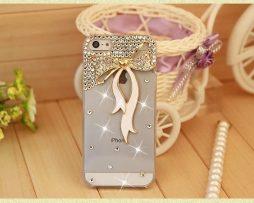 Obal z tvrdeného plastu so šperkom na iPhone 5 / 5S - mašľa