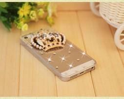 Obal z tvrdeného plastu so šperkom na iPhone 5 / 5S - koruna