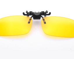 Špeciálny polarizovaný clip na okuliare na nočnú jazdu