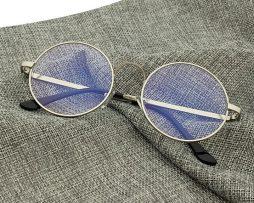 Kvalitné retro okuliare na prácu s počítačom so strieborným rámikom ... 61be4db237c