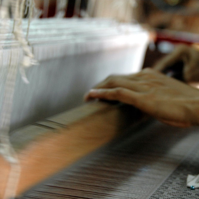 Výroba hodvábnej tkaniny - www.malovany-hodvab.sk