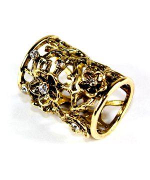 Spona na šatku - Kvetiny - zlatá