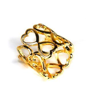 Spona na šatku - Srdce - zlatá