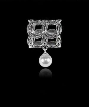 Spona na šatku - Lietajúca perla