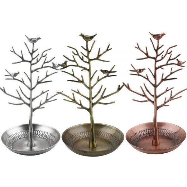 Luxusný stojan na šperky v tvare kovového stromu