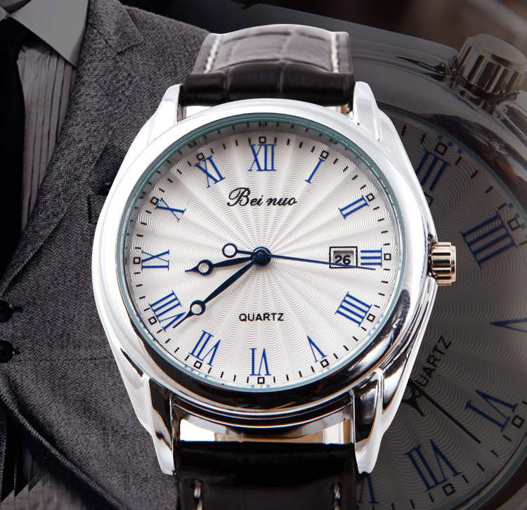 Luxusné pánske hodinky Beinuo s čiernym remienkom  1839b74605c