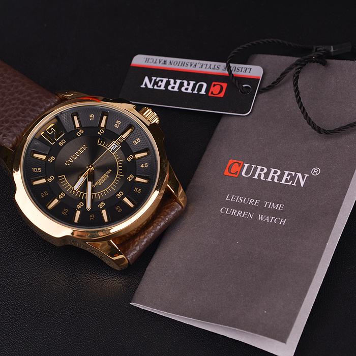 Luxusné pánske analógové hodinky Curren v zlatej farbe  7cc6b77c152
