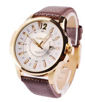 956ce6be1 Luxusné pánske hodinky Curren v zlatej farbe s hnedým remienkom