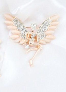 Luxusná brošňa v tvare ženského anjela