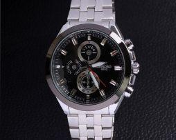 Luxusné pánske analógové hodinky Longbo z nerezovej ocele s čiernym  ciferníkom 2ce58f54c3