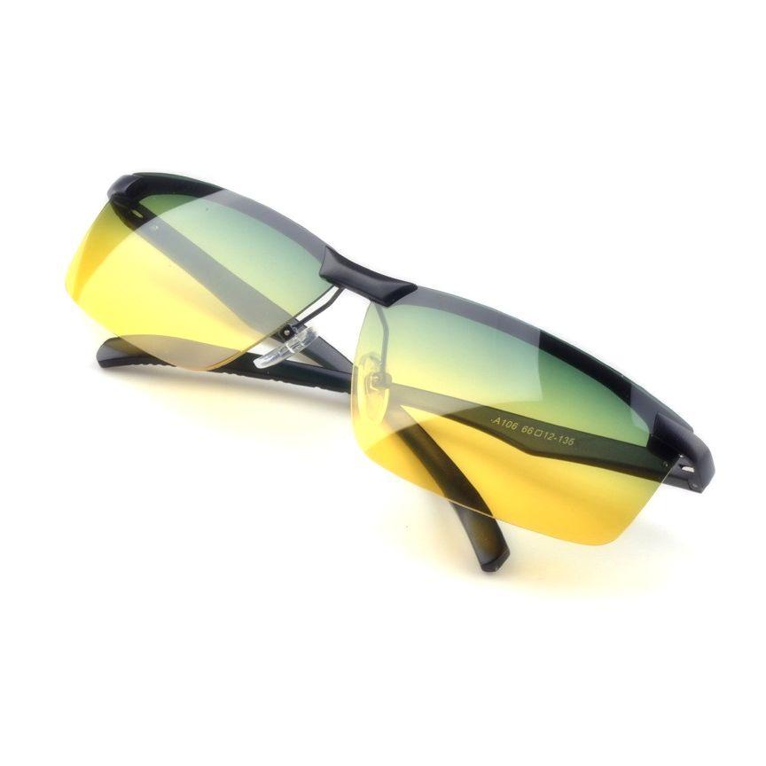 Nočné okuliare na jazdenie s čiernym rámikom  d577f1e651a