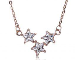 Luxusná retiazka s príveskom kryštálových hviezdičiek