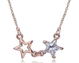 Luxusný prívesok v tvare dvoch hviezdičiek z kryštálov