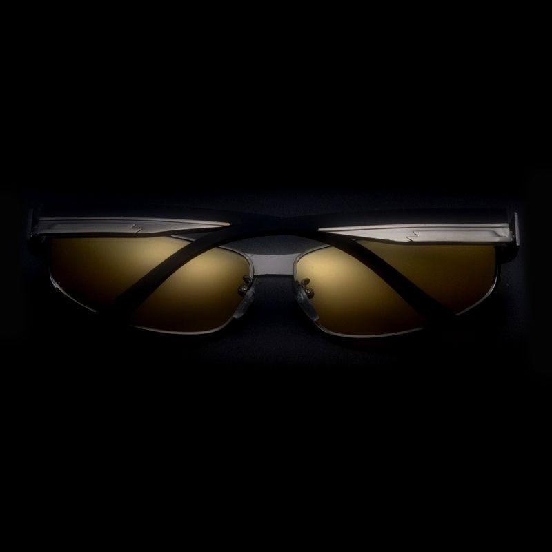 Okuliare pre šoférov na nočnú jazdu s čiernym rámikom  c824925d236