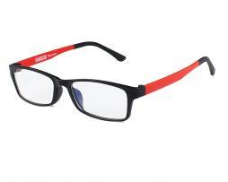 Okuliare na prácu s PC v červenej farbe znižujú únavu očí, pálenie očí a bolesť hlavy, zvyšujú kontrast, ostrosť, detaily, redukujú odlesky