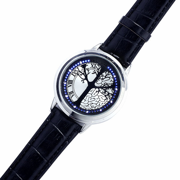 Luxusné modré LED hodinky strom života s dotykovým displejom ... 25a457dae9a