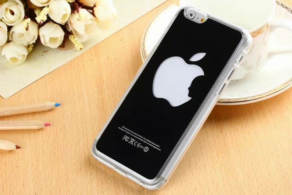 Luxusný svietiaci LED obal na Apple iPhone 6 s motívom Apple ... 85e50160085