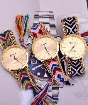 4b3b9384af Luxusné dámske hodinky Geneva s pleteným náramkom č.5