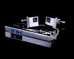 Luxusná kravatová súprava s modrými kryštálmi (2)