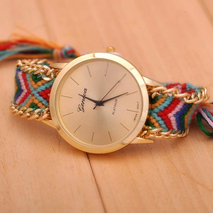 Luxusné dámske hodinky Geneva s pleteným náramkom č.1  6f7d1746f2
