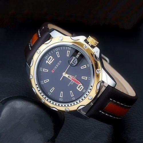 Luxusné pánske hodinky Curren z masívnej ocele s pevným koženým ... 2907121e713
