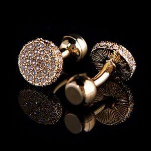 3378dc901e1c Luxusné svadobné manžetové gombíky v zlatej farbe