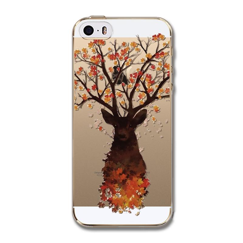 Luxusný transparentný silikónový obal na iPhone 5 5S s motívom ... 1845a9d88e5