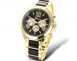 Sleduje svoj čas štýlovo s týmito luxusnými hodinkami v zlatej farbe