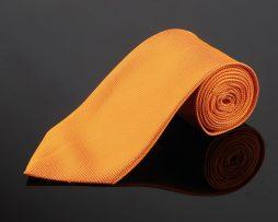 Elegantný set - kravata, vreckovka a manžetové gombíky v žltej farbe