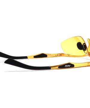 Luxusné okuliare na nočné šoférovanie so zlatým rámikom