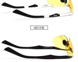 Luxusné okuliare na nočné šoférovanie so strieborným rámikom