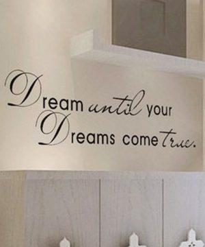 Kvalitná nálepka na stenu z PVC - DREAM - 50 x 70 cm