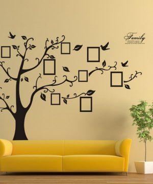 Kvalitná nálepka na stenu z PVC - STROM na fotografie - 200x250 cm