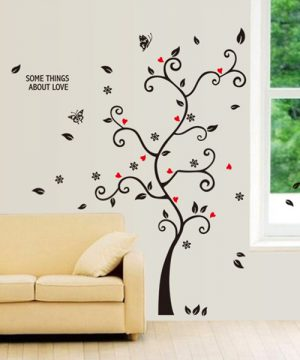 Kvalitná nálepka na stenu z PVC - STROM - formát 100x120 cm