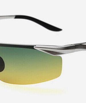 Moderné kvalitné okuliare pre šoférov so strieborným rámikom - tieňované