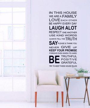 Kvalitná nálepka na stenu z PVC - FAMILY - formát 60x90 cm