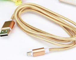 Dátový kábel pre zariadenia IOS-Iphone 5,5S,6,6PLUS, zlatá farba, 1,5m
