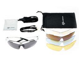 Športové multifunkčné okuliare na šport aj nočnú jazdu - čierne