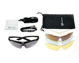 Športové multifunkčné okuliare na šport aj nočnú jazdu - biele