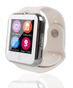 Namakané inteligentné bluetooth hodinky v bielej farbe