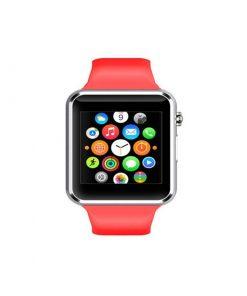 Elegantné SMART WATCH s mnohými funkciami v červenej farbe