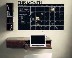 Kreatívna samolepiaca tabuľa na kriedy vhodná pre deti aj dospelých - 60x92 cm