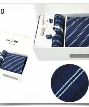 Elegantný kravatový set v darčekovom balení - vzor20