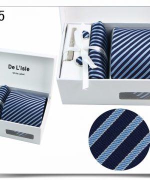 Elegantný kravatový set v darčekovom balení - vzor35