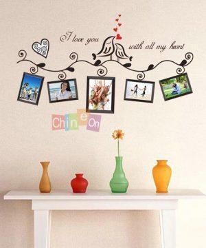 Kvalitná nálepka na stenu z PVC - I LOVE YOU - 100x40 cm