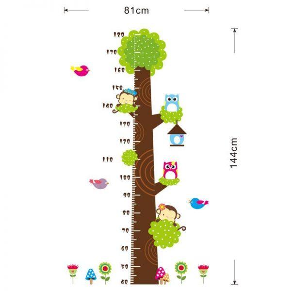 Kvalitná nálepka na stenu z PVC - STROM - METER - 144x81 cm