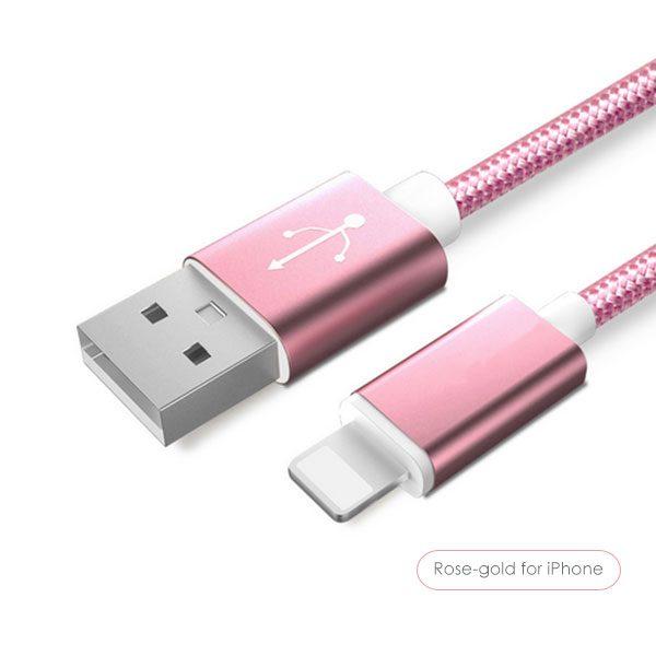 Dátový kábel pre zariadenia IOS-Iphone - rôzne farby, 1,5m